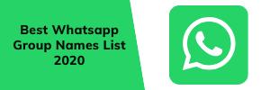 latest Whatsapp Group Names List