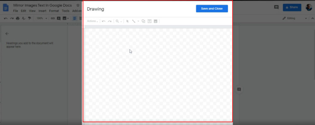 darwing tool google docs