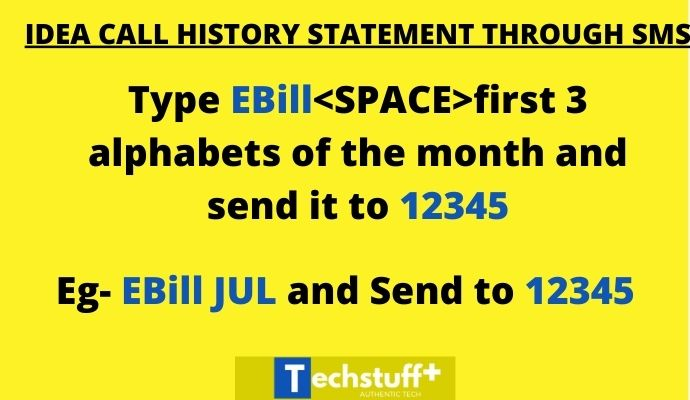 ideal calll history through SMS
