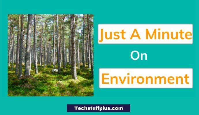 jam topic on environment