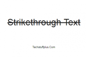 strikethorugh text in google docs