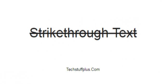 strikethorugh text in google docs